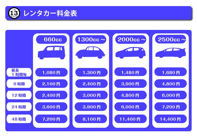 レンタカー価格表2