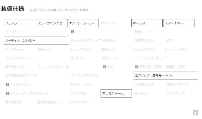 ワゴンR 660 FX S リミテッド WSRS 純正オーディオ 大阪 の中古車詳細   中古車なら【カーセンサーnet】_r3_c1